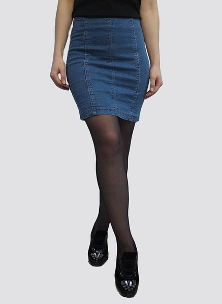 Fusta Denim Skirt Trendy M12